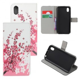 Huawei Honor 8S vaaleanpunaiset kukat suojakotelo
