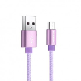 Lila Micro-USB kaapeli