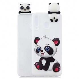 Samsung Galaxy A40 valkoinen panda suojakuori