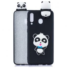 Samsung Galaxy A40 musta panda suojakuori