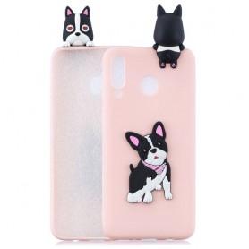 Samsung Galaxy A40 vaaleanpunainen koira suojakuori