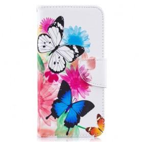 Samsung Galaxy A10 perhoset suojakotelo