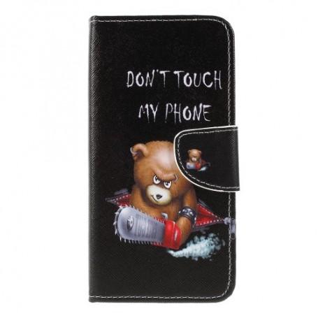 Samsung Galaxy A10 vihainen nalle suojakotelo