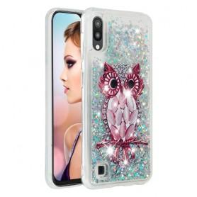 Samsung Galaxy A10 glitter hile pöllö suojakuori