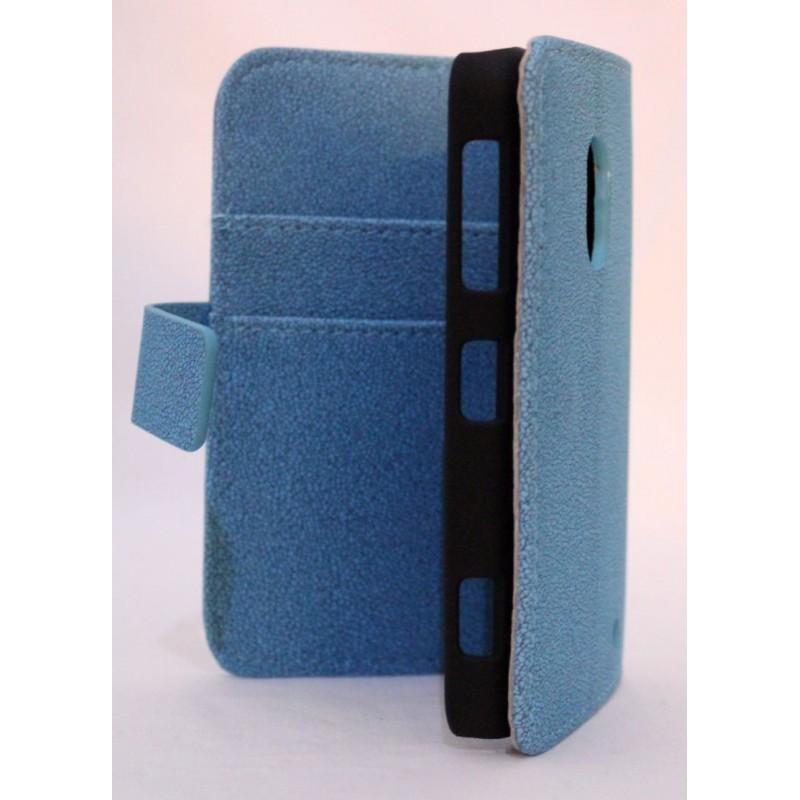 Lumia 620 sininen lompakko suojakotelo.