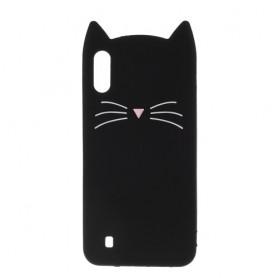 Samsung Galaxy A10 musta kissa suojakuori