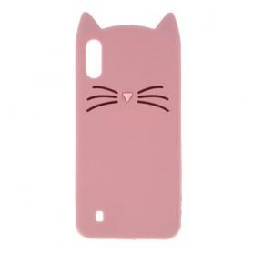 Samsung Galaxy A10 vaaleanpunainen kissa suojakuori