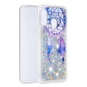 Samsung Galaxy A20e glitter hile unisieppari suojakuori