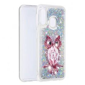 Samsung Galaxy A20e glitter hile pöllö suojakuori