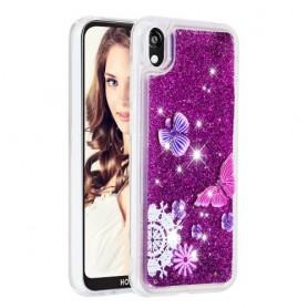 Huawei Y5 2019 glitter hile perhoset suojakuori