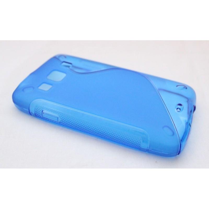 Galaxy Xcover sininen silikoni suojakuori.