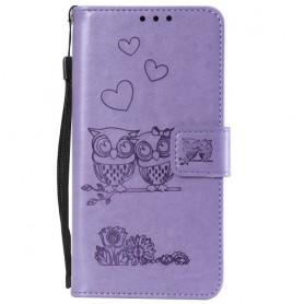 OnePlus 7 violetti pöllöt suojakotelo