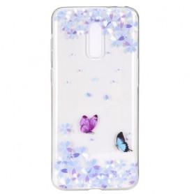OnePlus 7 läpinäkyvä perhoset suojakuori