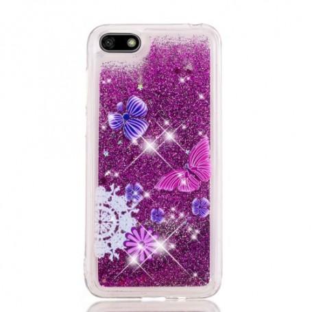 Huawei Y5 2018 glitter hile perhoset suojakuori