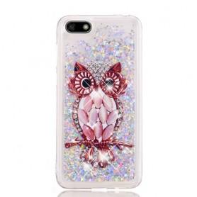 Huawei Y5 2018 glitter hile pöllö suojakuori