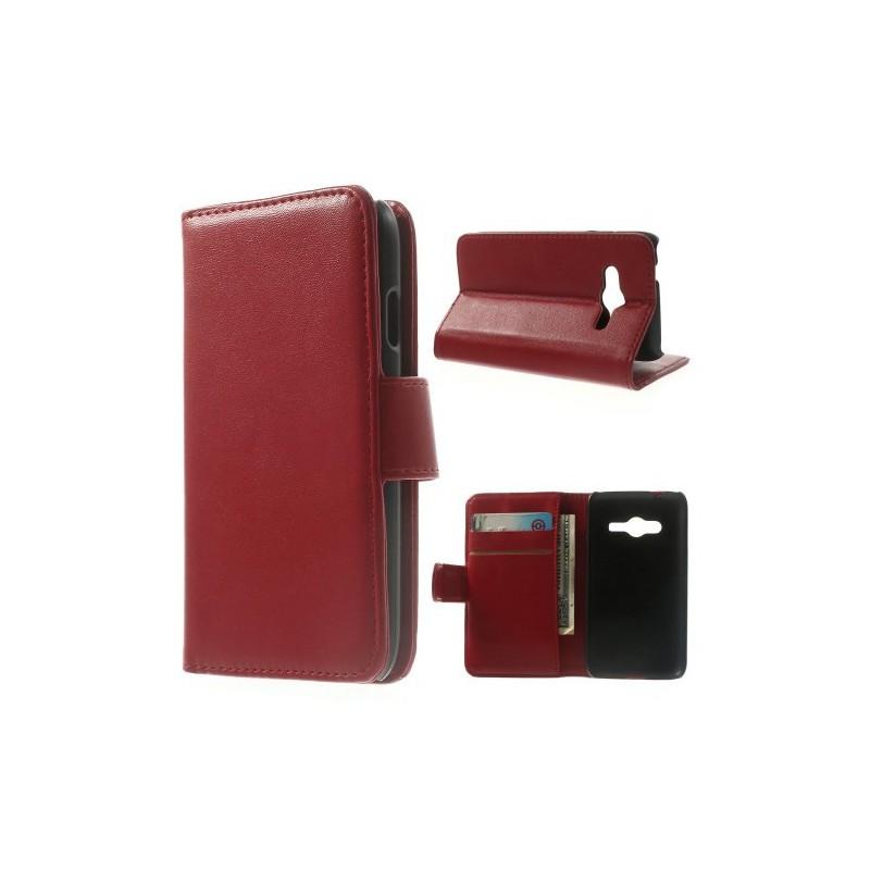 Galaxy Ace 4 punainen puhelinlompakko