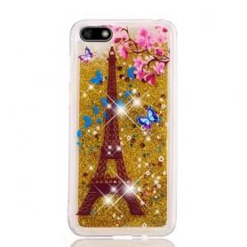 Huawei Y5 2018 glitter hile Eiffel-torni suojakuori