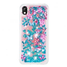Huawei Y5 2019 glitter hile kukat suojakuori