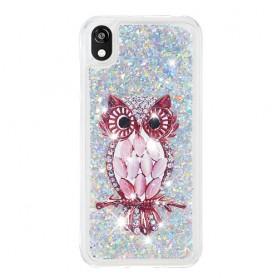 Huawei Y5 2019 glitter hile pöllö suojakuori