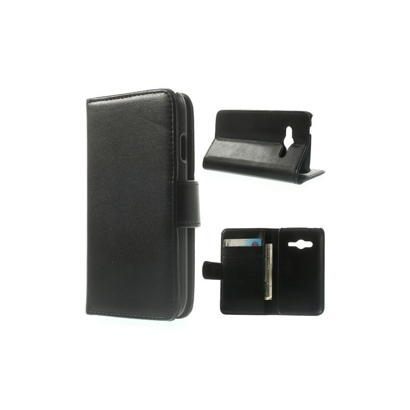 Galaxy Ace 4 musta puhelinlompakko