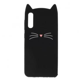 Samsung Galaxy A50 musta kissa silikonikuori.