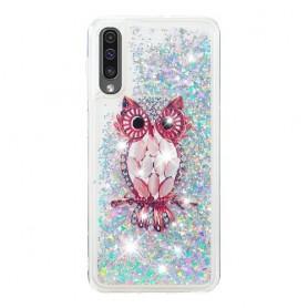 Samsung Galaxy A50 glitter hile pöllö suojakuori