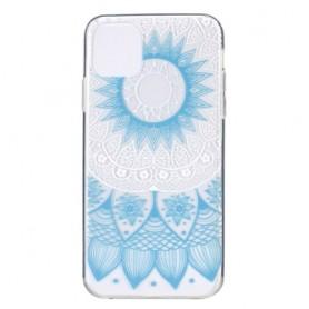 Apple iPhone 11 läpinäkyvä vaaleansininen mandala suojakuori