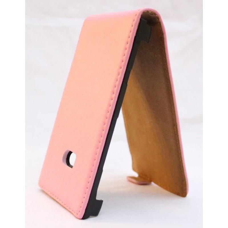 Lumia 900 vaaleanpunainen läppäkotelo.