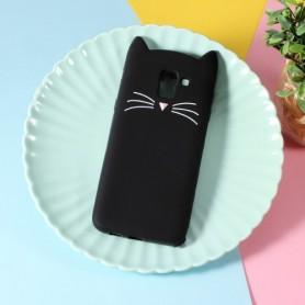 Samsung Galaxy J6 2018 musta kissa silikonikuori.