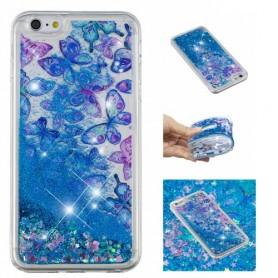 iPhone 6/6s/7/8/SE 2020 glitter hile perhoset suojakuori