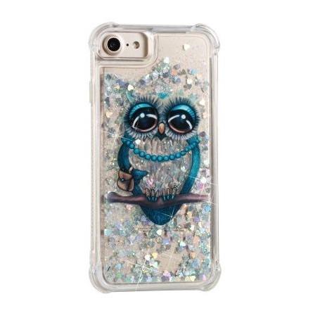 iPhone 6/6s/7/8/SE 2020 glitter hile pöllö suojakuori