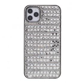 iPhone 11 pro hopeanvärinen tekojalokivi suojakuori