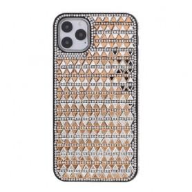 iPhone 11 pro kullanvärinen tekojalokivi suojakuori