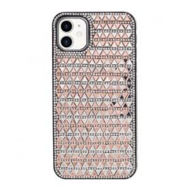 iPhone 11 ruusukulta tekojalokivi suojakuori