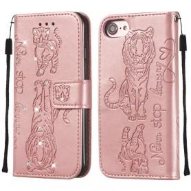 iPhone 6/6s/7/8 ruusukulta tiikeri suojakotelo