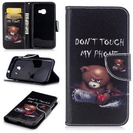 Samsung Xcover 4 vihainen nalle puhelinlompakko