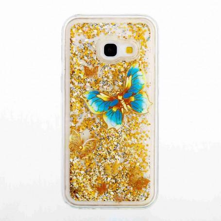 Samsung Galaxy A3 2017 perhoset glitterhile suojakuori.