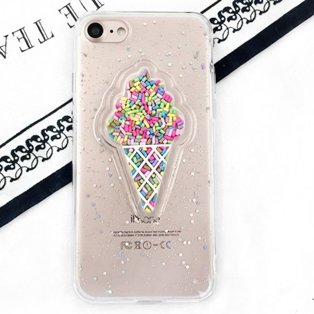 iPhone 6 / 6s läpinäkyvä jäätelökuori