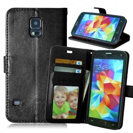 Galaxy S5 musta puhelinlompakko
