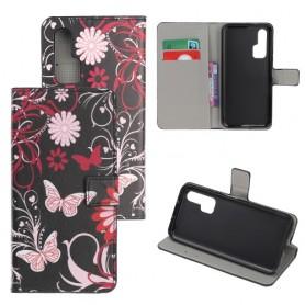 Huawei Honor 20 Pro kukkia ja perhosia suojakotelo
