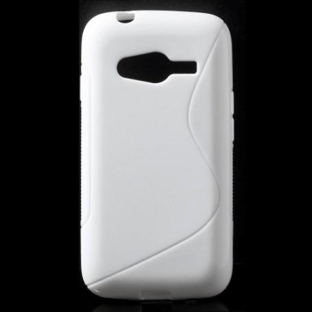 Galaxy Trend 2 valkoinen silikonisuojus.