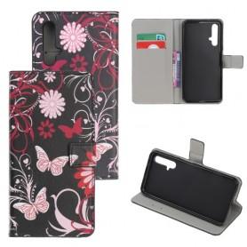 Huawei Honor 20 / Nova 5T kukkia ja perhosia suojakotelo