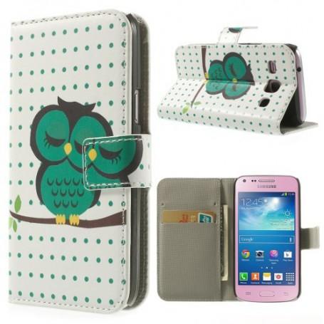 Galaxy Core Plus vihreä pöllö lompakkokotelo