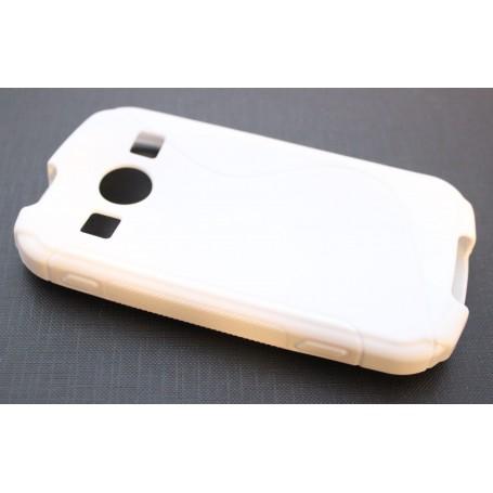 Galaxy Xcover 2 valkoinen silikoni suojakuori.