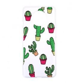 OnePlus 7T läpinäkyvä kaktukset suojakuori
