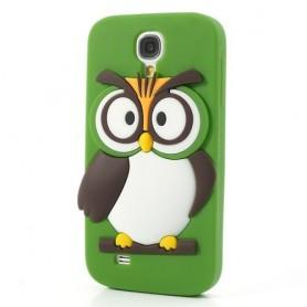 Galaxy S4 vihreä pöllö silikonisuojus.