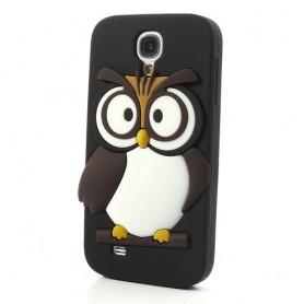 Galaxy S4 musta pöllö silikonisuojus.