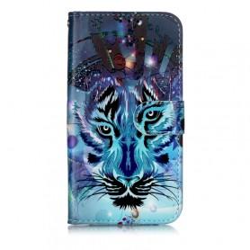 Samsung Galaxy A40 sininen tiikeri suojakotelo
