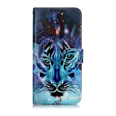 Samsung Galaxy A20e sininen tiikeri suojakotelo