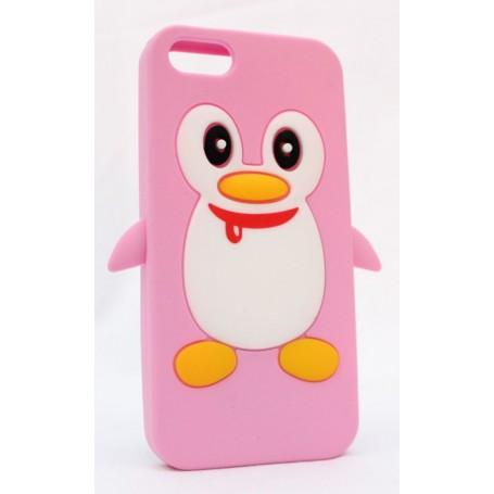 iPhone 5 vaaleanpunainen pingviini suojakuori.